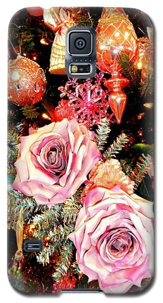 Vintage Rose Holiday Decorations Galaxy S5 Case