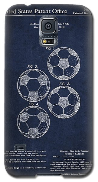 Soccer Galaxy S5 Case - Vintage Soccer Ball Patent Drawing From 1964 by Aged Pixel