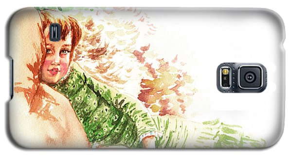 Galaxy S5 Case featuring the painting Vintage Study Lilian Of James Tissot by Irina Sztukowski
