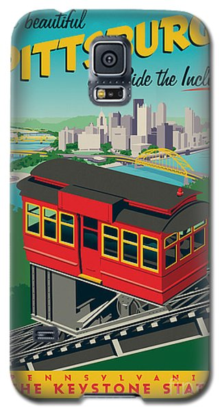 Vintage Style Pittsburgh Incline Travel Poster Galaxy S5 Case by Jim Zahniser