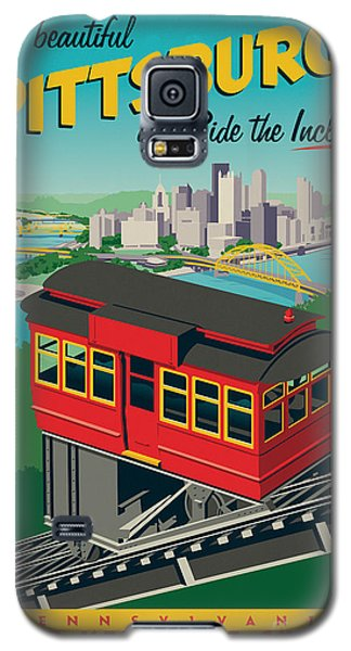 Florida State Galaxy S5 Case - Vintage Style Pittsburgh Incline Travel Poster by Jim Zahniser
