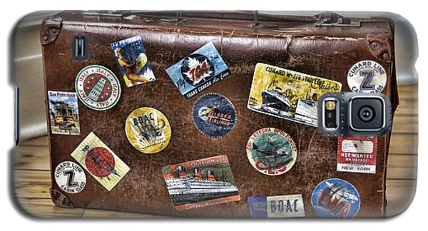 Galaxy S5 Case featuring the photograph Vintage Suitcase With Labels by Craig B