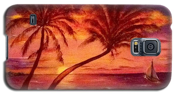 Vintage Sunset Sail  Galaxy S5 Case