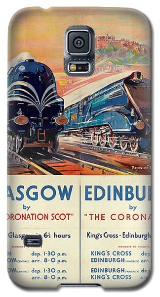 Vintage Train Travel - Glasgow And Edinburgh Galaxy S5 Case