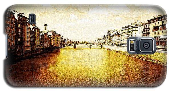 Vintage View Of River Arno Galaxy S5 Case