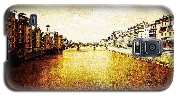 Vintage View Of River Arno Galaxy S5 Case