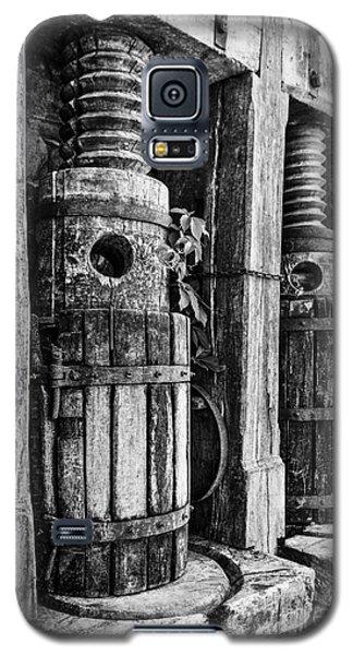 Vintage Wine Press Bw Galaxy S5 Case