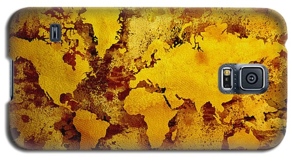 Vintage World Map Galaxy S5 Case by Zaira Dzhaubaeva