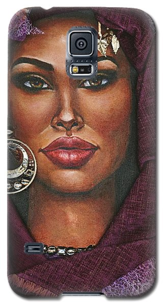 Galaxy S5 Case featuring the painting Violet by Alga Washington
