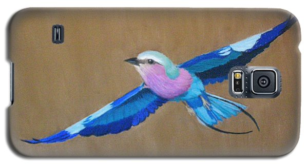 Violet-breasted Roller Bird II Galaxy S5 Case
