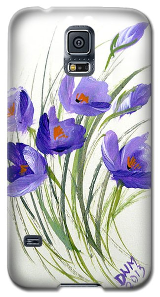 Violet Crocus Galaxy S5 Case by Dorothy Maier