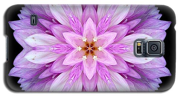Violet Dahlia I Flower Mandala Galaxy S5 Case by David J Bookbinder