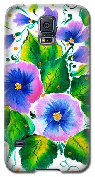Violet Flowers Galaxy S5 Case