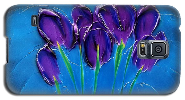 Violet Posy Galaxy S5 Case by Kenneth Clarke