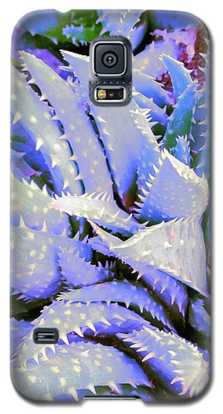 Galaxy S5 Case featuring the digital art Violet by Suzanne Silvir