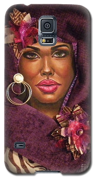 Galaxy S5 Case featuring the painting Violets by Alga Washington