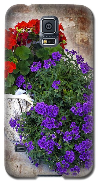 Violets And Geraniums On The Bricks Galaxy S5 Case
