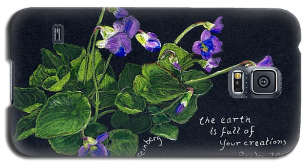Violets And Psalm 104 Galaxy S5 Case