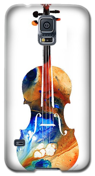 Violin Art By Sharon Cummings Galaxy S5 Case by Sharon Cummings