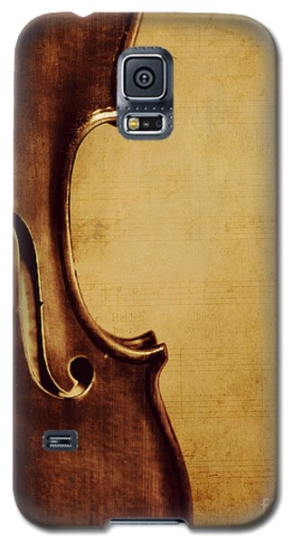 Violin Galaxy S5 Case - Violin Portrait  by Emily Kay