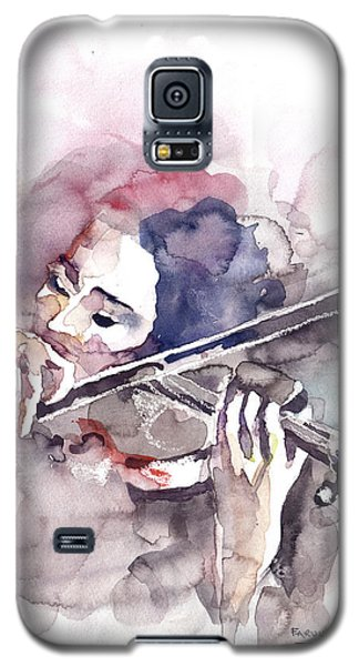 Galaxy S5 Case featuring the painting Violin Prelude by Faruk Koksal