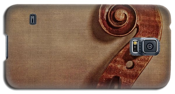 Violin Galaxy S5 Case - Violin Scroll by Emily Kay