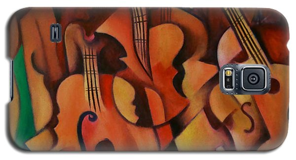 Galaxy S5 Case featuring the painting Violins With Mandolin by Kim Gauge