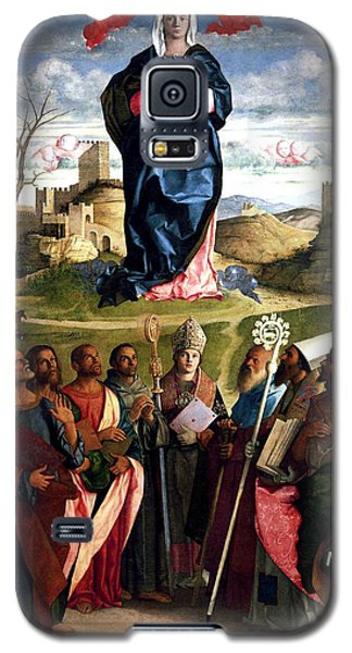 Galaxy S5 Case featuring the painting Virgin In Glory With Saints 1515 Giovanni Bellini by Karon Melillo DeVega