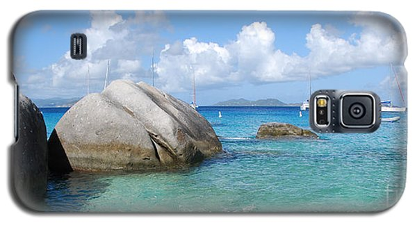 Virgin Islands The Baths With Boats Galaxy S5 Case