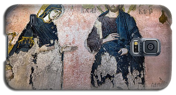 Virgin Mary And Jesus Galaxy S5 Case by Marion McCristall