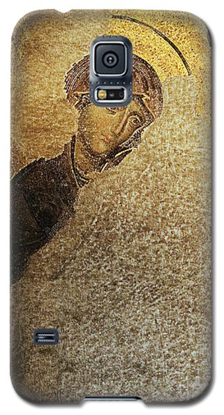 Virgin Mary-detail Of Deesis Mosaic  Hagia Sophia-day Of Judgement Galaxy S5 Case