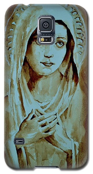 Galaxy S5 Case featuring the painting Virgin Mary by Steven Ponsford