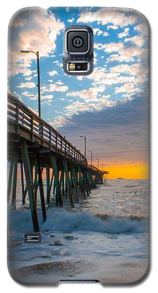 Virginia Beach Pier Into The Sun Galaxy S5 Case by Dawn Romine