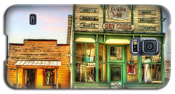 Galaxy S5 Case featuring the photograph Virginia City Dry Goods by Mary Timman