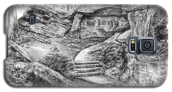Galaxy S5 Case featuring the drawing Virginia Kendall Ledges - Cuyahoga Valley National Park by Kelli Swan