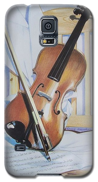 Galaxy S5 Case featuring the mixed media Virginia's Violin by Constance Drescher