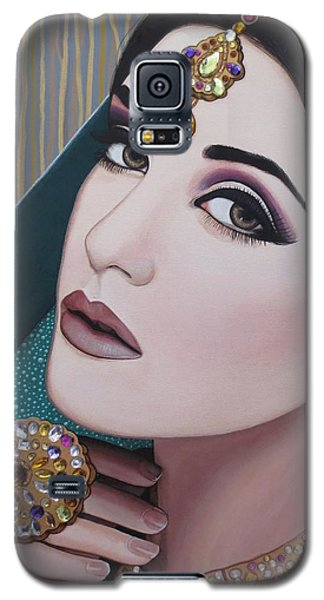 Viridian Indian Beauty Galaxy S5 Case by Malinda Prudhomme
