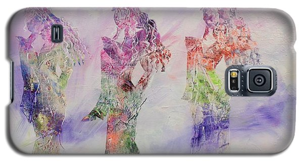 Galaxy S5 Case featuring the painting Virtuous by Nereida Rodriguez