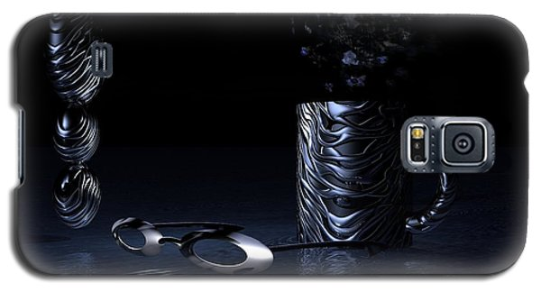 Galaxy S5 Case featuring the digital art Visions Of Black by Jacqueline Lloyd