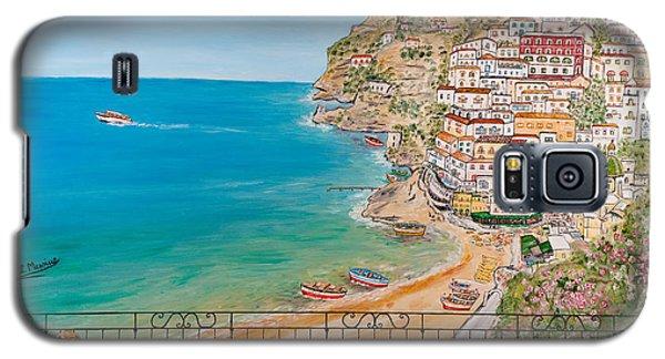 Galaxy S5 Case featuring the painting Vista Su Positano by Loredana Messina