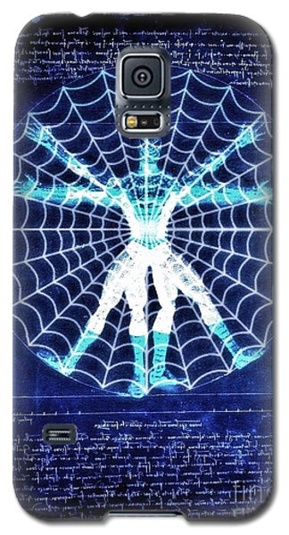 Vitruvian Spiderman White In The Sky Galaxy S5 Case