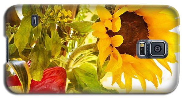 Vivid Cheery Sunflower Bouquet Galaxy S5 Case by Maria Janicki