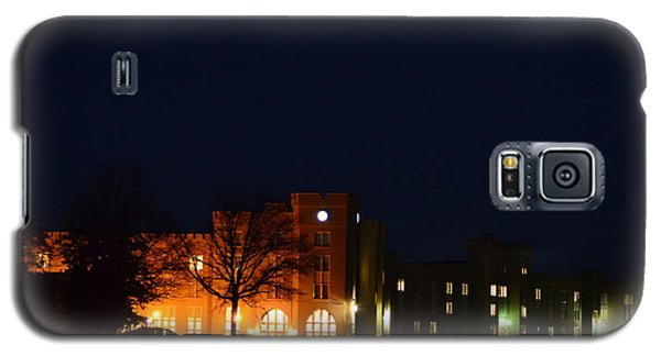 Galaxy S5 Case featuring the photograph Vmi Night Lights by Cathy Shiflett