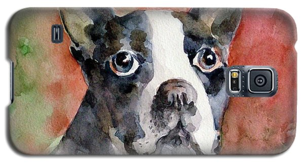 Galaxy S5 Case featuring the painting Vodka - French Bulldog by Faruk Koksal