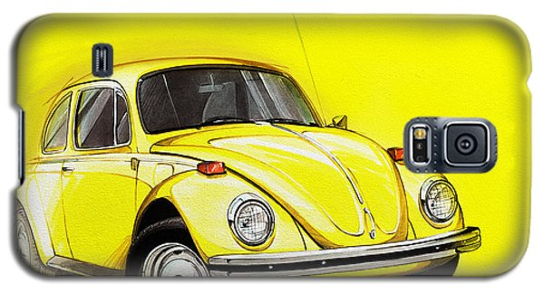 Volkswagen Beetle Vw Yellow Galaxy S5 Case by Etienne Carignan
