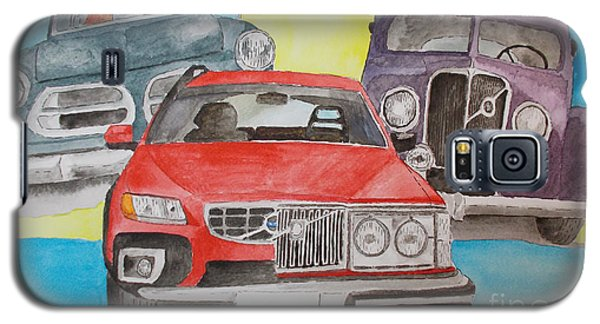 Galaxy S5 Case featuring the painting Volvo Nostalgi by Eva Ason