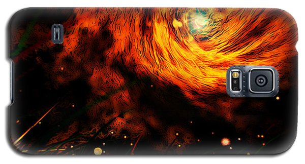 Galaxy S5 Case featuring the painting Vortex by Persephone Artworks