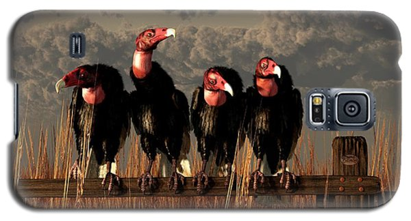 Vultures On A Fence Galaxy S5 Case by Daniel Eskridge