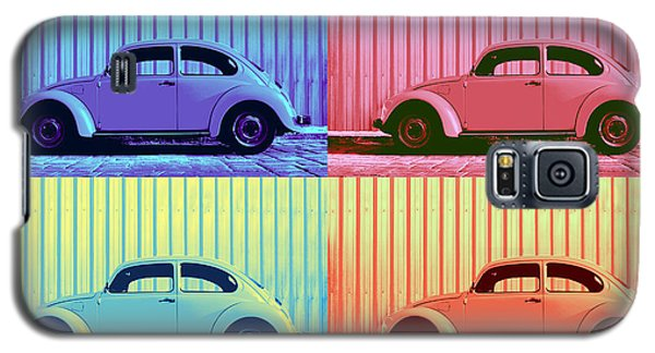 Vw Beetle Pop Art Quad Galaxy S5 Case by Laura Fasulo