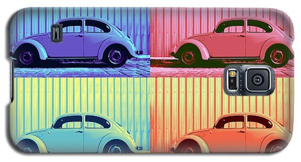 Vw Beetle Pop Art Quad Galaxy S5 Case by Laura Fasulo
